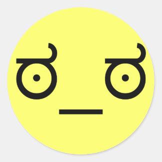 ಠ_ಠLook av för textkonst för ogillande ASCCI Runt Klistermärke