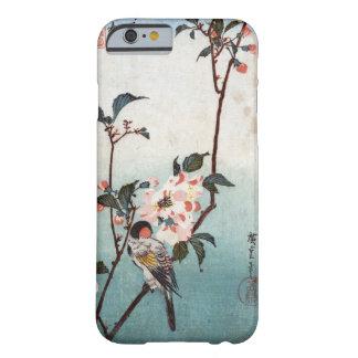 八重桜に鳥, körsbärsröd blommar för 広重 & fågel, barely there iPhone 6 fodral