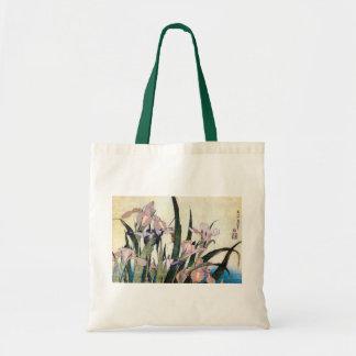杜若ときりぎりす, 北斎Iris och gräshoppa, Hokusai Tygkasse