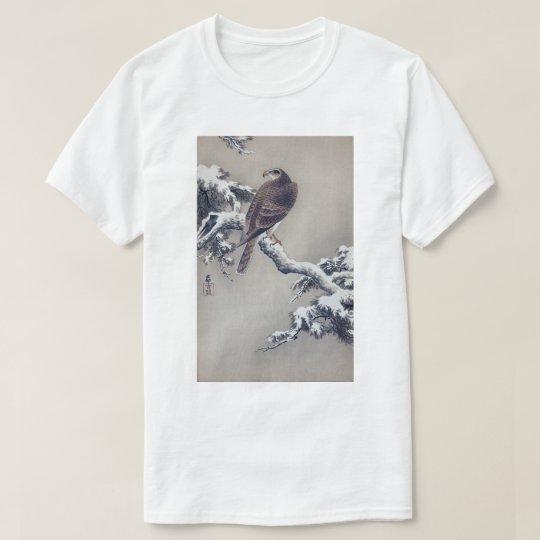 松に鷹 古邨hök på grästräd, Ohara Koson, träsnitt T Shirts