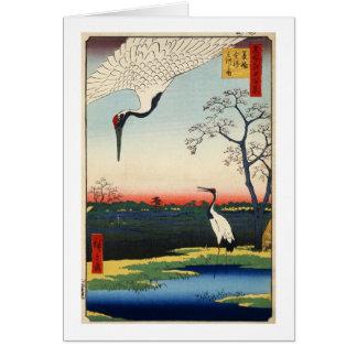 江戸の鶴 広重kran av Edo, Hiroshige Hälsningskort