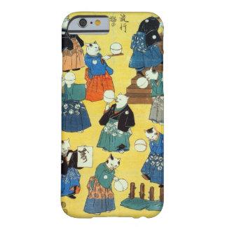 猫の曲芸師 国芳akrobat av katterna, Kuniyoshi, Ukiyo-e Barely There iPhone 6 Skal
