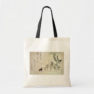 馬の家族 北斎familj av hästen, Hokusai, Sumi-e Budget Tygkasse