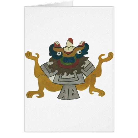 02.Tlaltecuhtli - Mayan / Aztec Creator God Hälsningskort