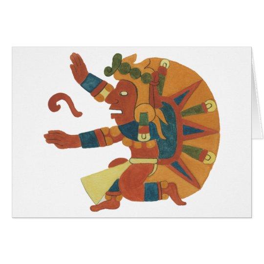 04.Tonatiuh - Mayan / aztec Creator God Hälsningskort