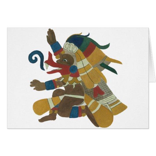 09.Quetzalcoatl - Mayan / Aztec Creator God Hälsningskort