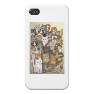 1000 katter iPhone 4 cases