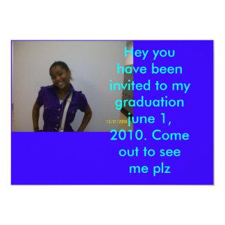 100_0058 Hey har du varit inbjuden till min gradu… 12,7 X 17,8 Cm Inbjudningskort