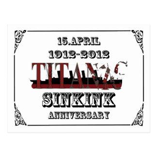 100. årsdag av den Titanic tragedivykortet Vykort