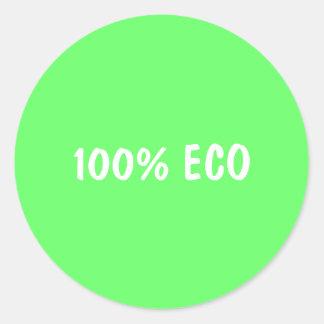 100% ECO RUNT KLISTERMÄRKE