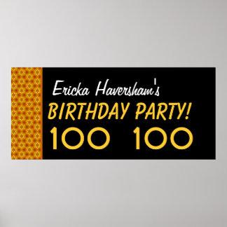 100. födelsedag för anpassningsbar eller några års poster