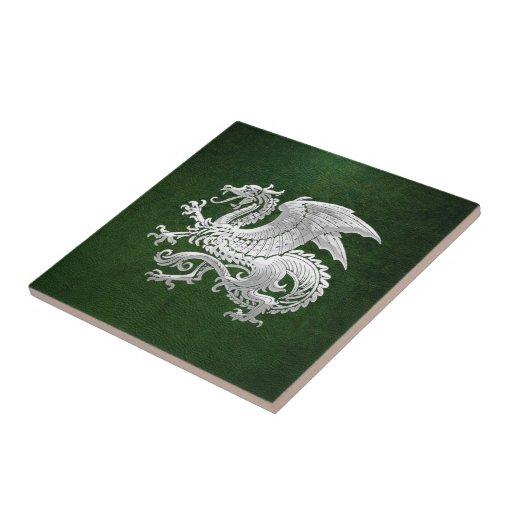 [100] Isländsk drake, Landvættir [silver] Kakel