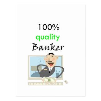 100% kvalitets- bankir vykort