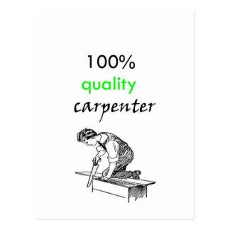 100% kvalitets- snickare vykort