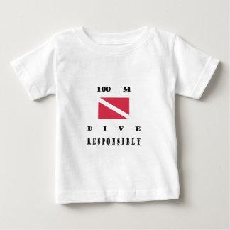 100 mäter dykflagga tee shirts