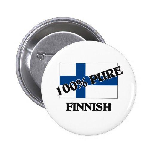 100 procent FINSKA Knapp Med Nål