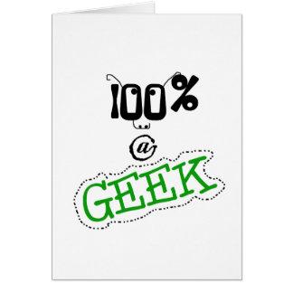 100 procent Geek Hälsningskort