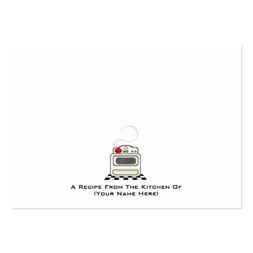 100 receptkort - litet Retro rött kök 2 Visitkort Mall