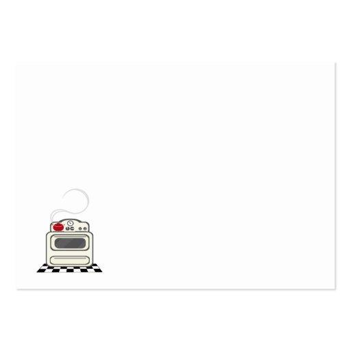 100 receptkort - litet Retro rött kök ingen text Visit Kort