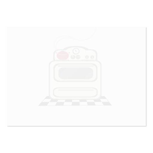 100 receptkort - rent Retro rött kök ingen text Visitkort Mall