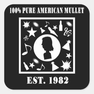 100% rena amerikanmultefiskar Est. 1982 Fyrkantigt Klistermärke