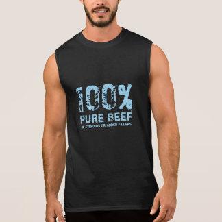 100% rena nötkött inga steroider ärmlösa tröjor