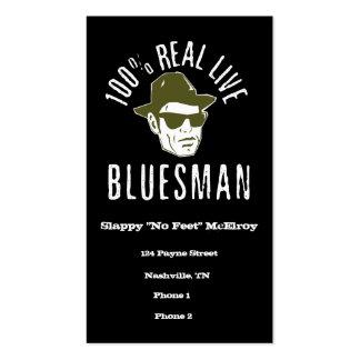 100 verkliga levande Bluesmanvisitkortar