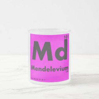 101 periodiskt bord för Mendelevium | av inslag Frostad Glasmugg