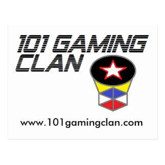 101 spela klan, vykort