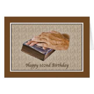 102. Födelsedag-, bibel- och åldrashänder Hälsningskort