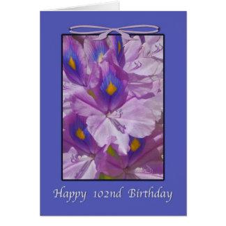 102. Födelsedag lavendelliljar Hälsningskort