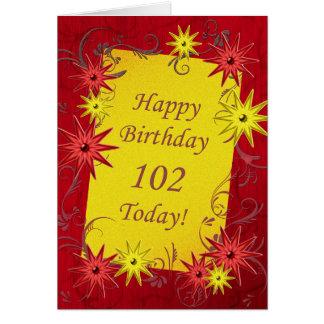 102. Födelsedagkort Hälsningskort
