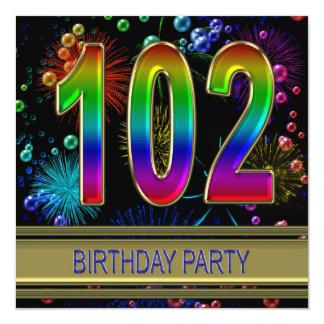 102. Födelsedagsfest inbjudan med bubblar