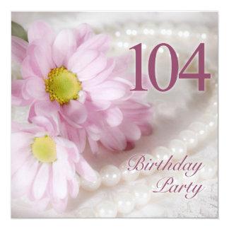 104. Födelsedagsfest inbjudan med daisy