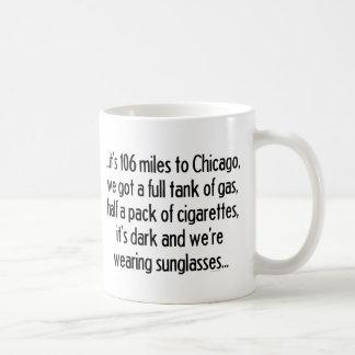 106 Miles till Chicago Kaffemugg