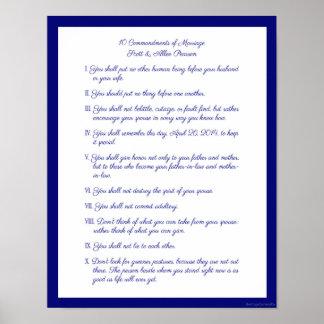 10 Commandments av giftermål Poster