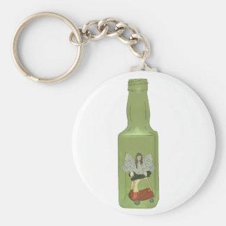10 gröna flaskor 7 rund nyckelring