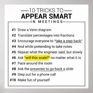 10 trick som verkar smart under möteaffischen poster