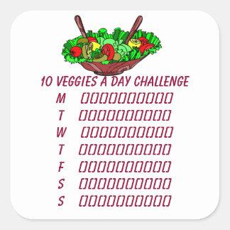 10 Veggies en klistermärke för dagutmaningPlanner