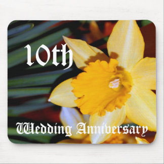 10th bröllopsdag - påsklilja musmatta