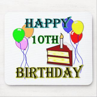 10th Design för födelsedagtårtafödelsedag Musmatta