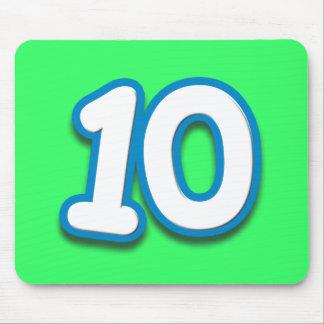 10th födelsedag för lycklig i den Sim stilsorten Musmatta
