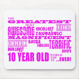 10th födelsedagar för flickor: Årig rosa största Musmatta