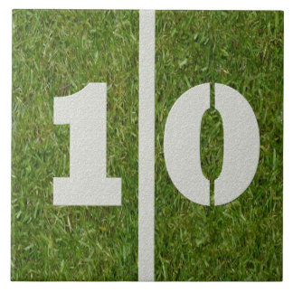 10th Födelsedagfotboll belägger med tegel anpassad Kakel