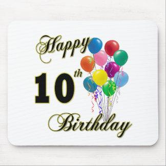 10th födelsedaggåvor för lycklig och födelsedagdrä musmatta