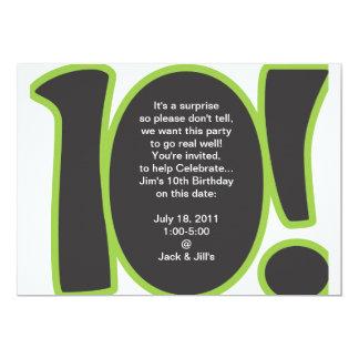 10th Födelsedaginbjudan 12,7 X 17,8 Cm Inbjudningskort