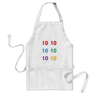 10th tionde GÅVOR för år för Xth födelsedagårsdag Förkläde