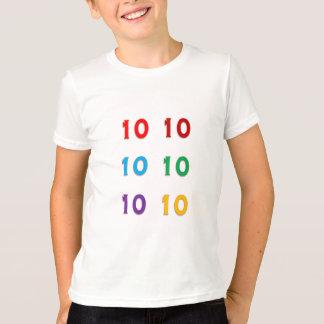 10th tionde GÅVOR för år för Xth födelsedagårsdag Tee Shirts