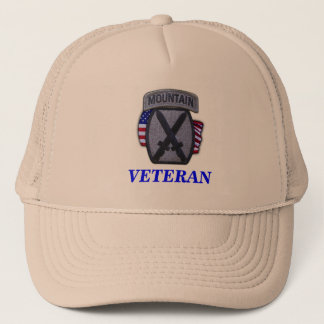10th vietnam iraq för berguppdelningsveteran hatt truckerkeps