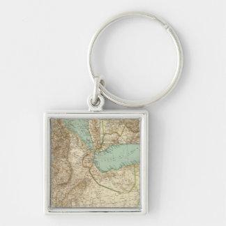 11617 Eritrea, Etiopien, Somalia Fyrkantig Silverfärgad Nyckelring